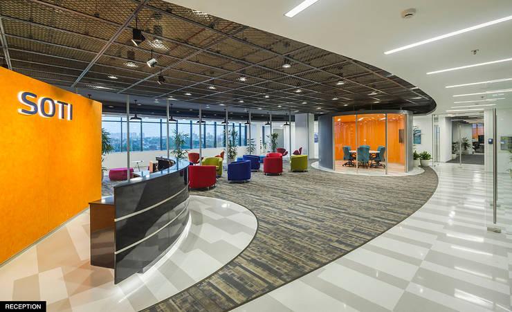 Reception Area:   by Basics Architects