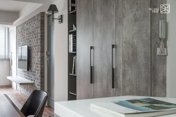 Corridor, hallway & stairs  by 禾廊室內設計