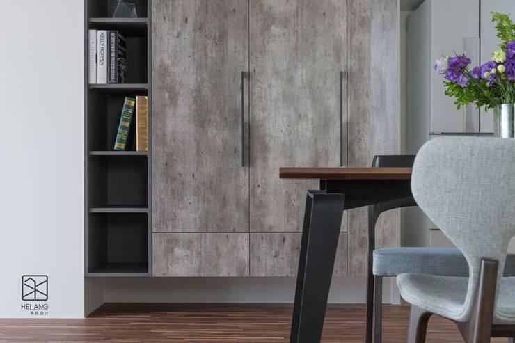 收納櫃:  玄關、走廊與階梯 by 禾廊室內設計