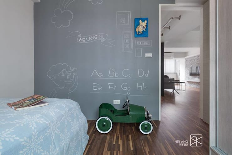 黑板漆:  嬰兒房/兒童房 by 禾廊室內設計
