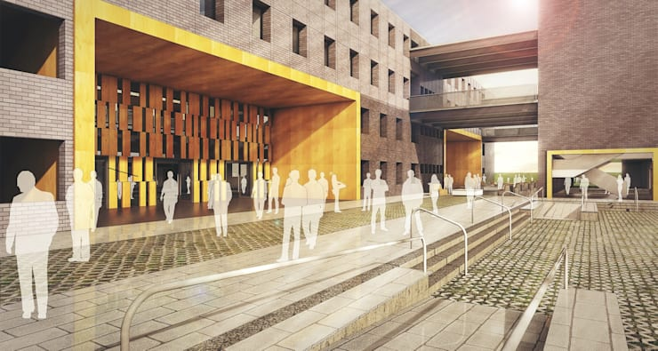 Building Entrance:   by Basics Architects