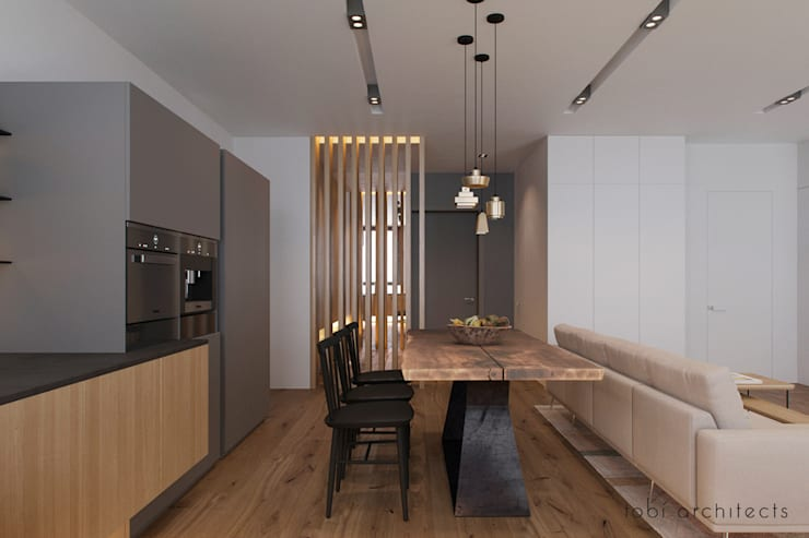 minimalistic Kitchen by Tobi Architects