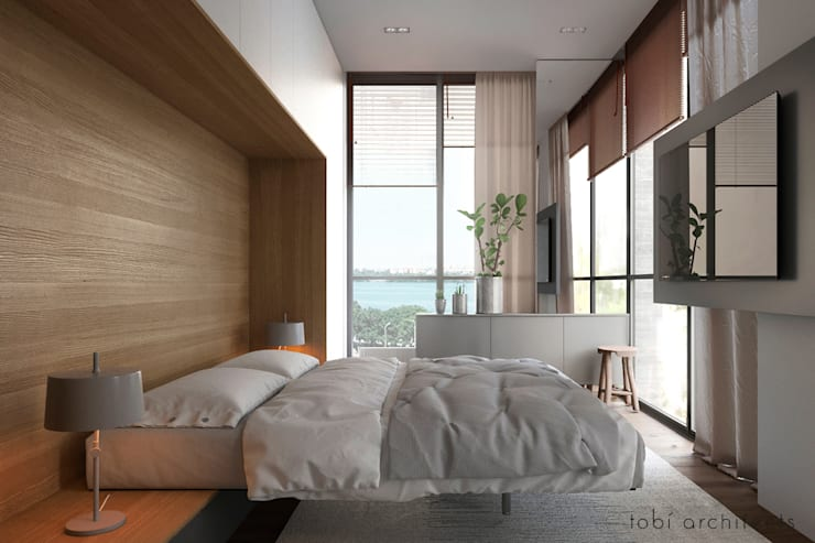 minimalistic Bedroom by Tobi Architects