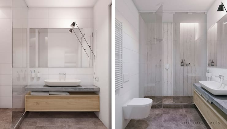 minimalistic Bathroom by Tobi Architects