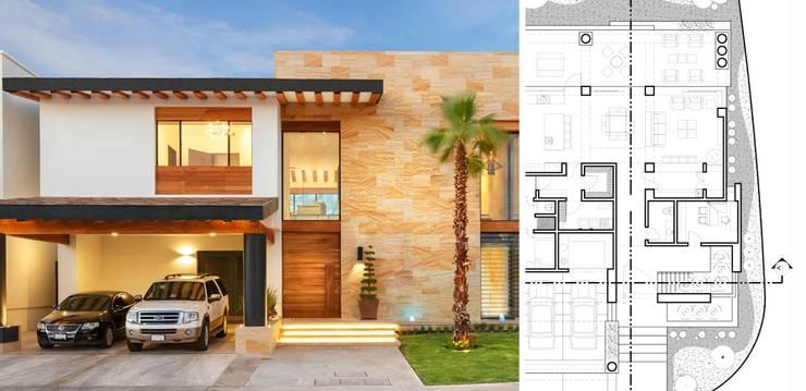 5 casas modernas con sus planos que te inspirar n a for Casa moderna 7x20