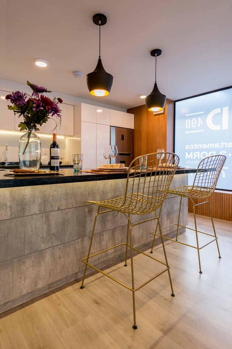 Diseño y Styling   Showroom Edifica proyecto MID: Espacios comerciales de estilo  por Gracia Nano Studio