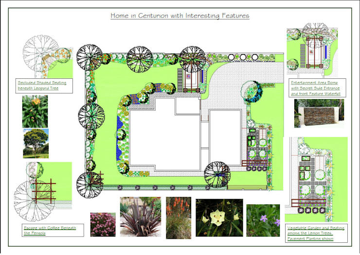 Home with Intrest in Every Corner of the Garden:   by Hedgehog Landscapes