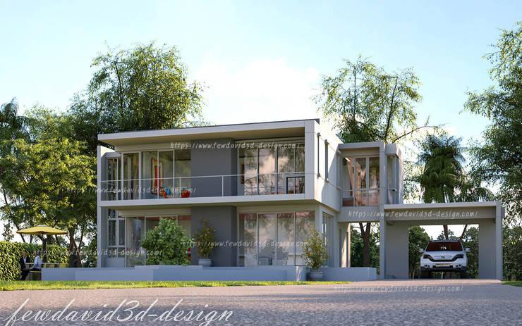 บ้านพักอาศัย 2ชั้น อ.หัวหิน จ.ประจวบคีรีขันธ์:  บ้านและที่อยู่อาศัย by fewdavid3d-design