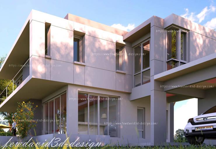 บ้านพักอาศัย 2ชั้น อ.หัวหิน จ.ประจวบคีรีขันธ์:  เรือนกระจก by fewdavid3d-design