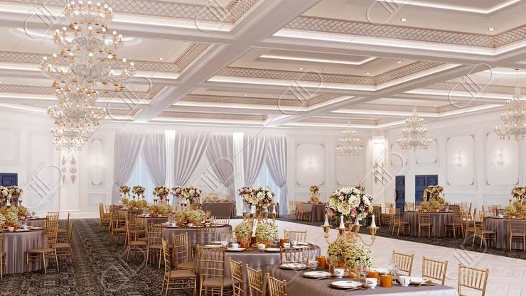 Royal Venetian Banquet Hall:  Media room by Design Studio AiD