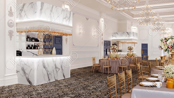 Royal Venetian Banquet Hall:  Wine cellar by Design Studio AiD