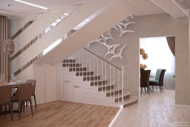 Escaleras de estilo  por Студия интерьерного дизайна happy.design