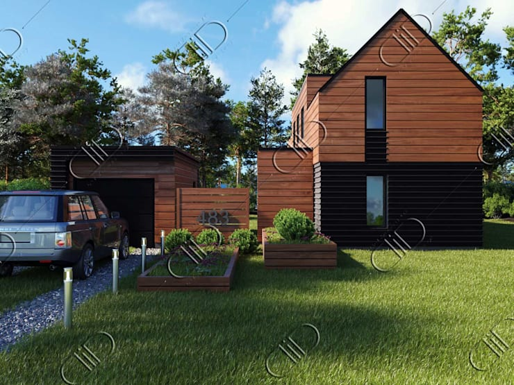 WoodLine:  Houses by Design Studio AiD