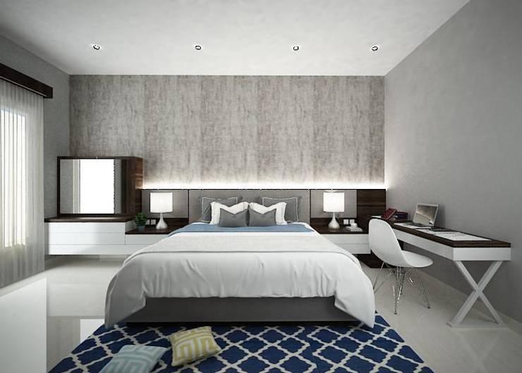 Simple Bedroom:  Kamar Tidur by Chromatic Interior