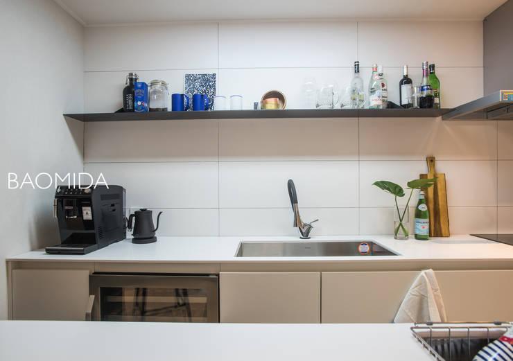 just relax_서래마을 빌라 인테리어: (주)바오미다의  주방