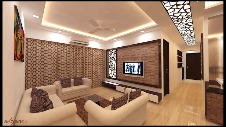 Mr. Rishi Anand:  Living room by New Space Interior