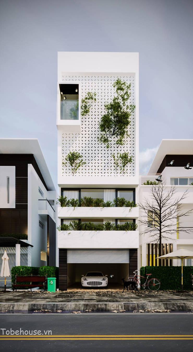 Linh House – Linh Đàm:  Nhà by Công ty cổ phần kiến trúc và nội thất Tobehouse Việt Nam