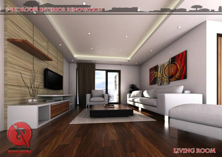 3-Bedroom Interior Design: modern Living room by Garra + Punzal Architects