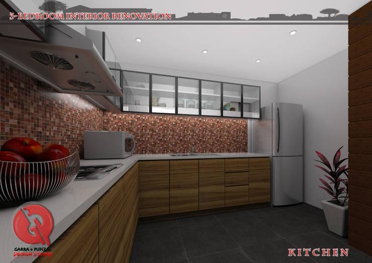 3-Bedroom Interior Design: modern Kitchen by Garra + Punzal Architects