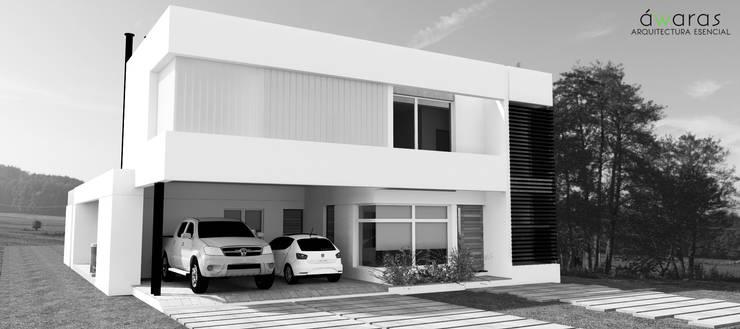 FRENTE NORTE: Casas de estilo  por áwaras arquitectos,