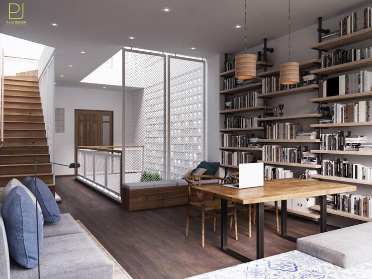 NHÀ PHỐ PLEIKU:  Phòng học/Văn phòng by P.A.U Design