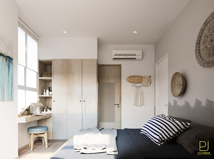 4S RIVERSIDE APARTMENT:  Phòng ngủ by P.A.U Design