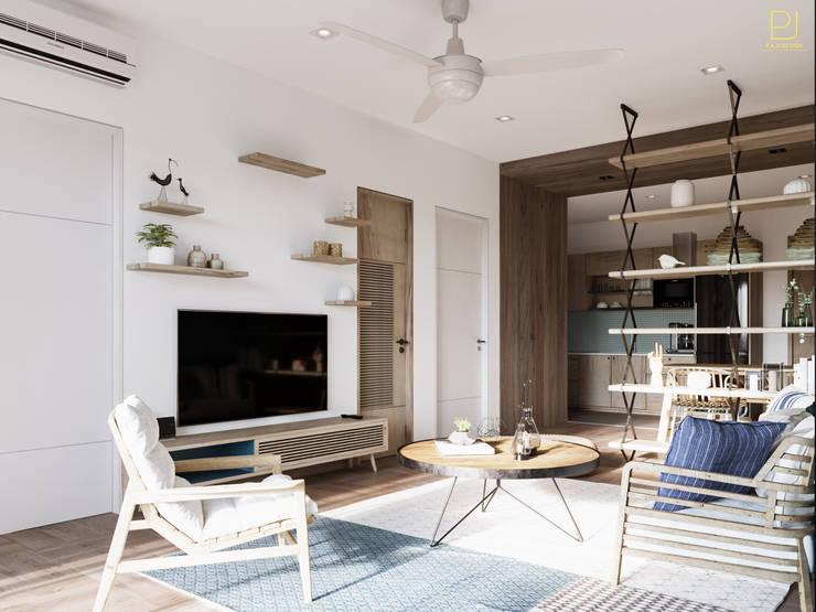 4S RIVERSIDE APARTMENT:  Phòng khách by P.A.U Design