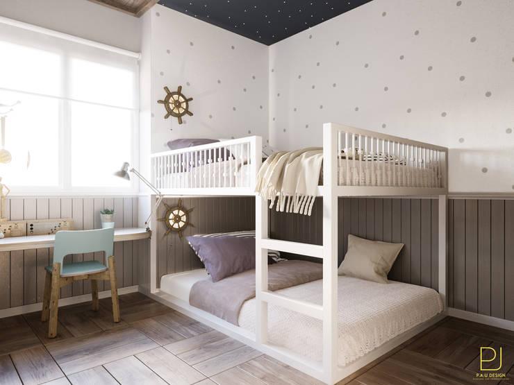 嬰兒房/兒童房 by P.A.U Design