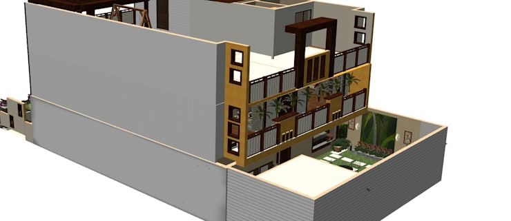 Residential  - Villa:   by Kapilaz Space Planners & Interior Designer