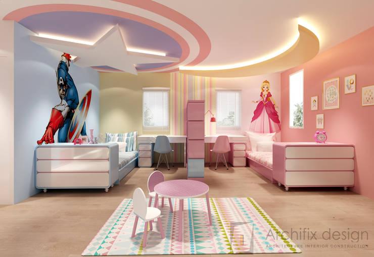 Cải tạo căn hộ Duplex -Lam Sơn - Tân Bình:  Phòng ngủ của trẻ em by Công Ty TNHH Archifix Design