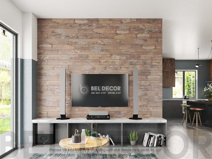 HO1719B Villa/ Bel Decor:   by Bel Decor