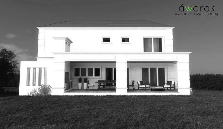 CASA PM | FRENTE ESTE: Casas de estilo  por áwaras arquitectos,