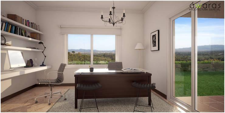 CASA PM | ESCRITORIO: Estudios y oficinas de estilo  por áwaras arquitectos,