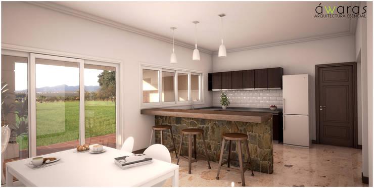 CASA PM | COCINA COMEDOR DIARIO: Cocinas de estilo  por áwaras arquitectos,