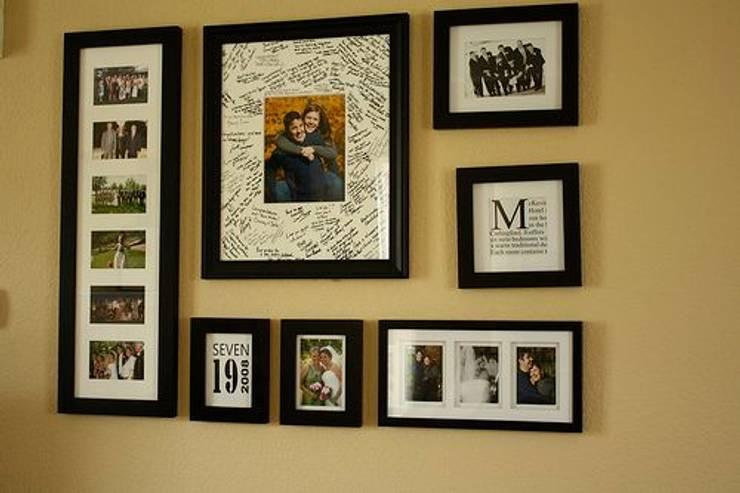 Enmarcado de Fotografia Familiar distintos tamaños: Estudios y despachos de estilo  por Galeria Marqueteria ARTE & MARKO, Clásico Madera Acabado en madera