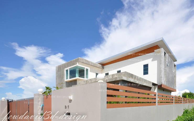 บ้านพักอาศัย2ชั้น modern loft จ.ฉะเชิงเทรา คุณชิตณรงค์ฯ:  บ้านและที่อยู่อาศัย by fewdavid3d-design