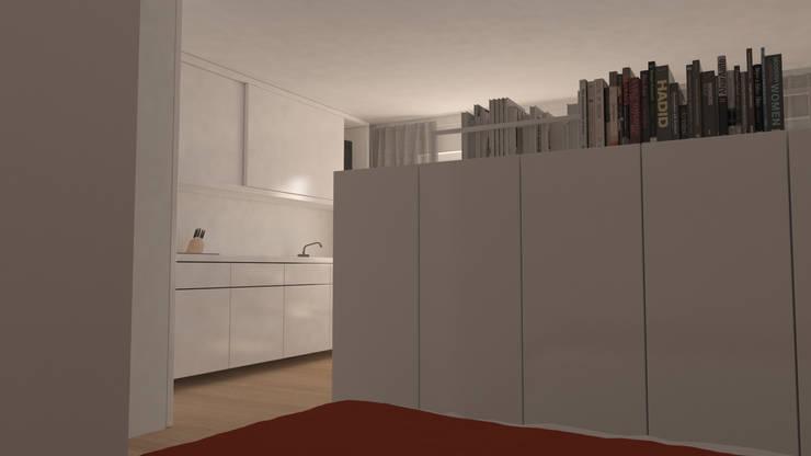 Reforma de piso de 30m2: Dormitorios de estilo  de Okoli