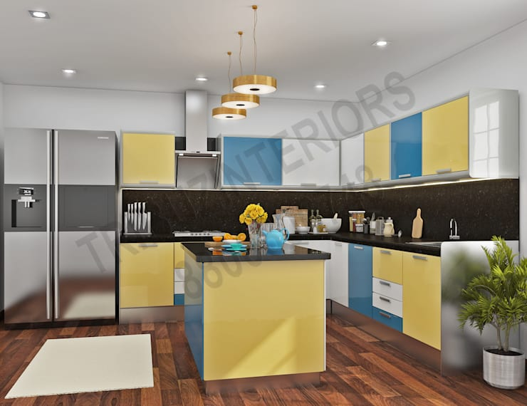 Saket: modern Kitchen by Tribuz Interiors Pvt. Ltd.