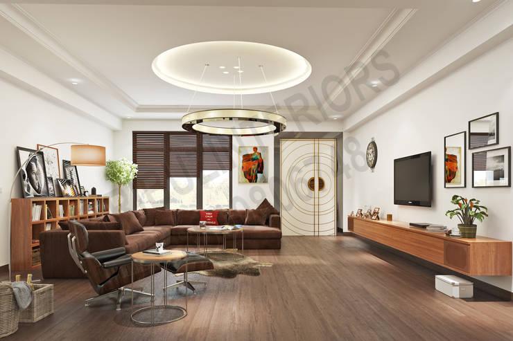 South City :  Living room by Tribuz Interiors Pvt. Ltd.