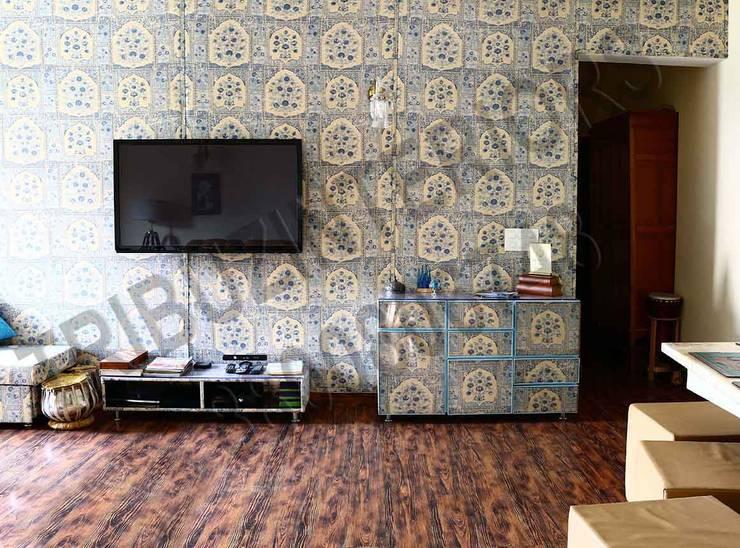 Heritage :  Living room by Tribuz Interiors Pvt. Ltd.