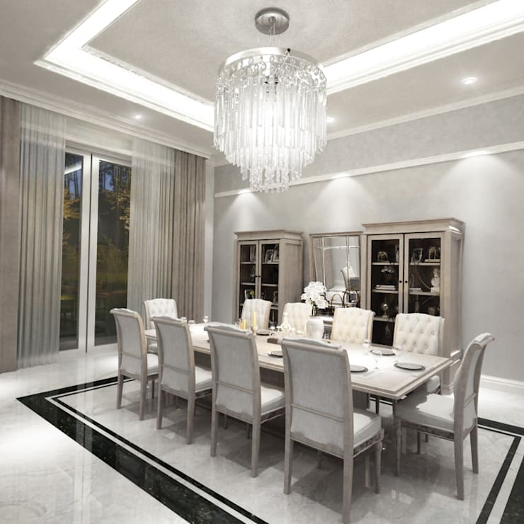 Dining Room:  Dining room by Indesign Domus