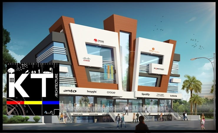 COMMERCIAL:  Commercial Spaces by ARCHITECTS KT INDIA GROUP,Modern