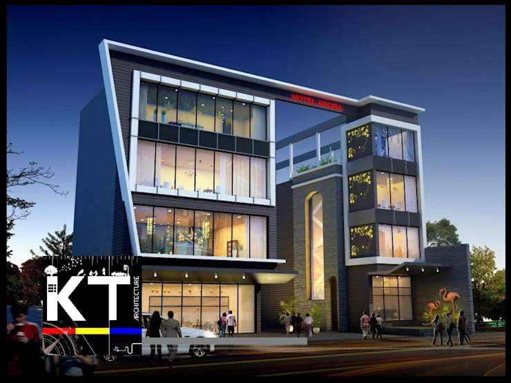 COMMERCIAL VIEW:  Commercial Spaces by ARCHITECTS KT INDIA GROUP,Modern
