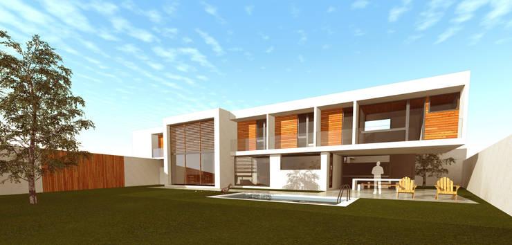 Vista general desde patio interior : Casas de estilo  por artefacto arquitectura