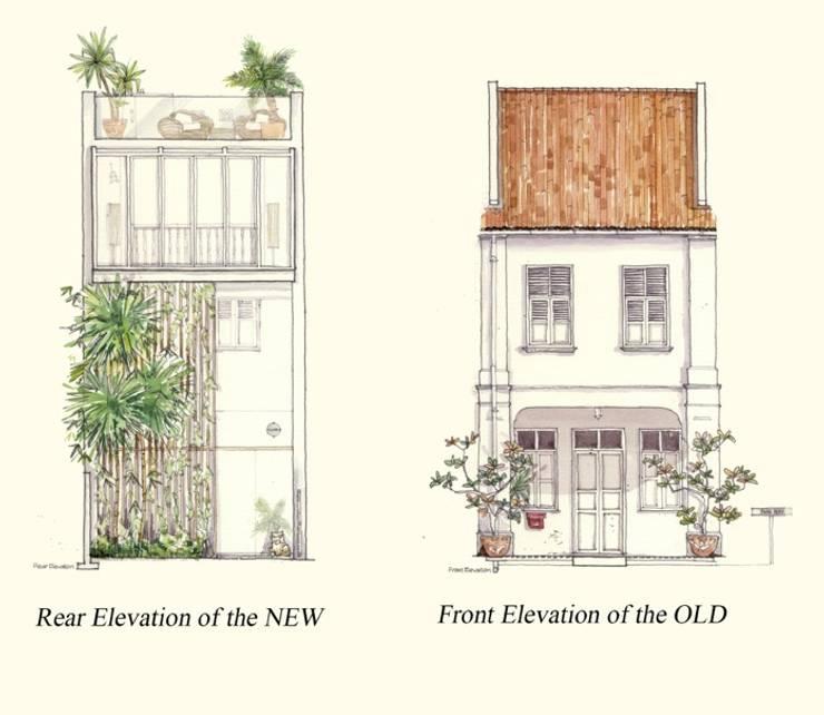 ONAN ROAD SHOPHOUSE: modern  by EZRA Architects ,Modern