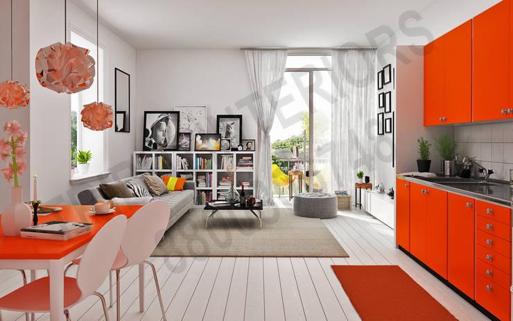Princeton:  Living room by Tribuz Interiors Pvt. Ltd.,Modern
