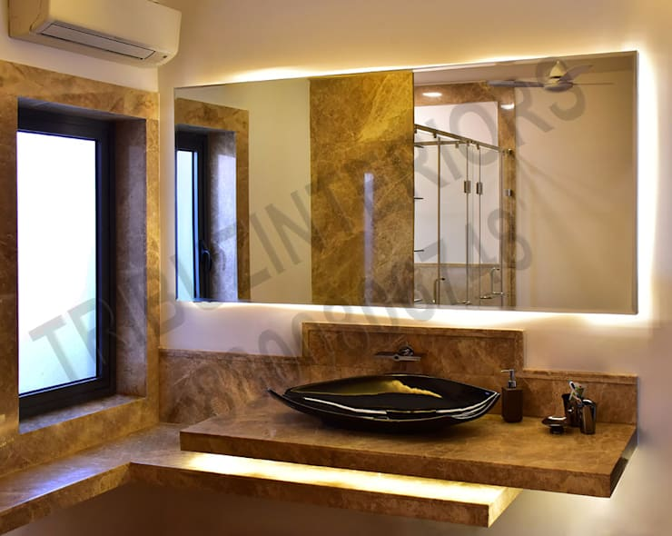 Heritage City:  Bathroom by Tribuz Interiors Pvt. Ltd.