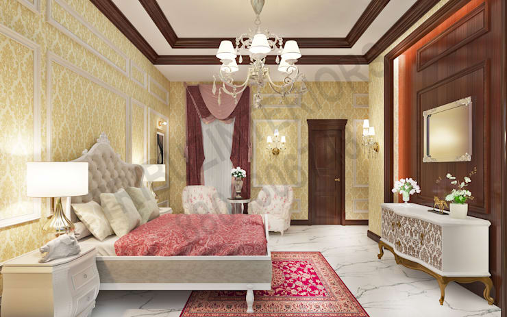 Central Park 2: classic Bedroom by Tribuz Interiors Pvt. Ltd.