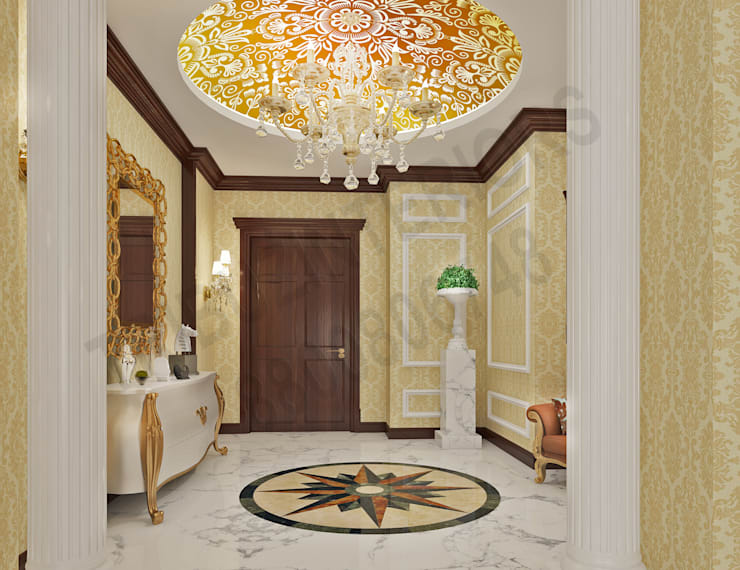 Central Park 2:  Corridor & hallway by Tribuz Interiors Pvt. Ltd.