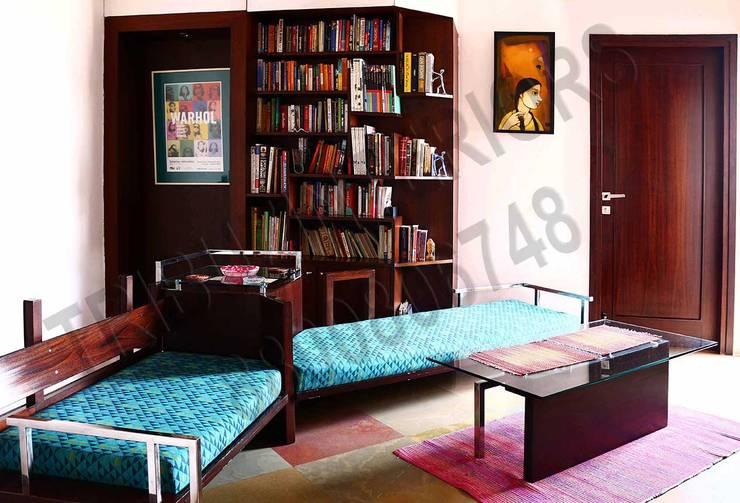 Heritage City 2: modern Study/office by Tribuz Interiors Pvt. Ltd.